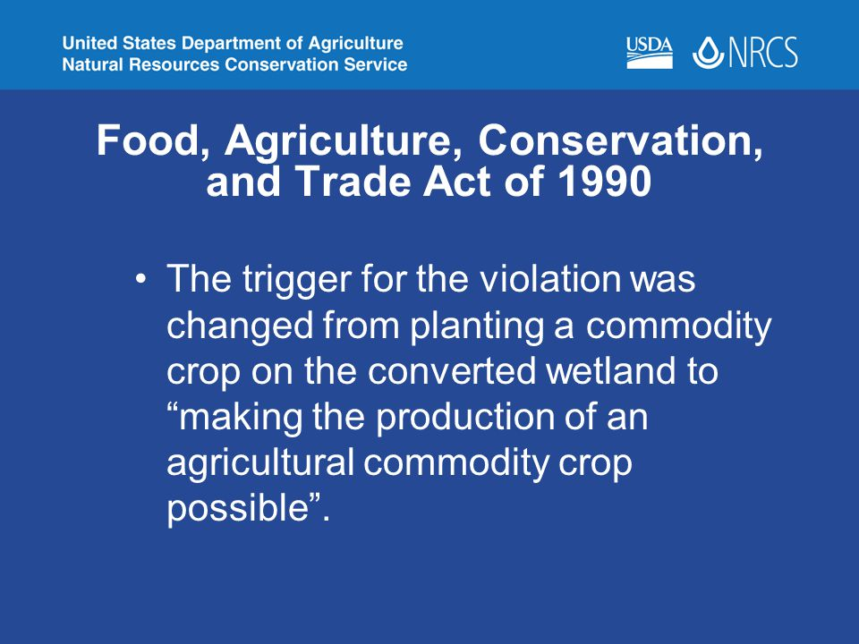Food, Agriculture, Conservation, and Trade Act of 1990