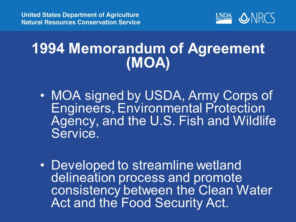1994 Memorandum of Agreement (MOA)
