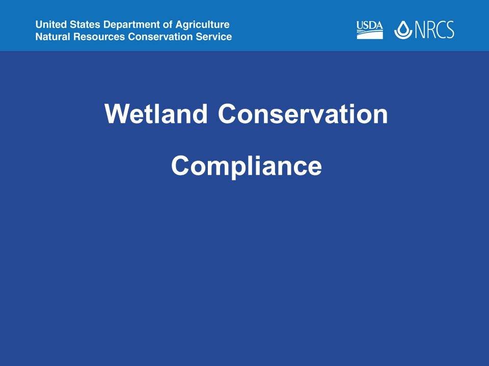 Wetland Conservation Compliance