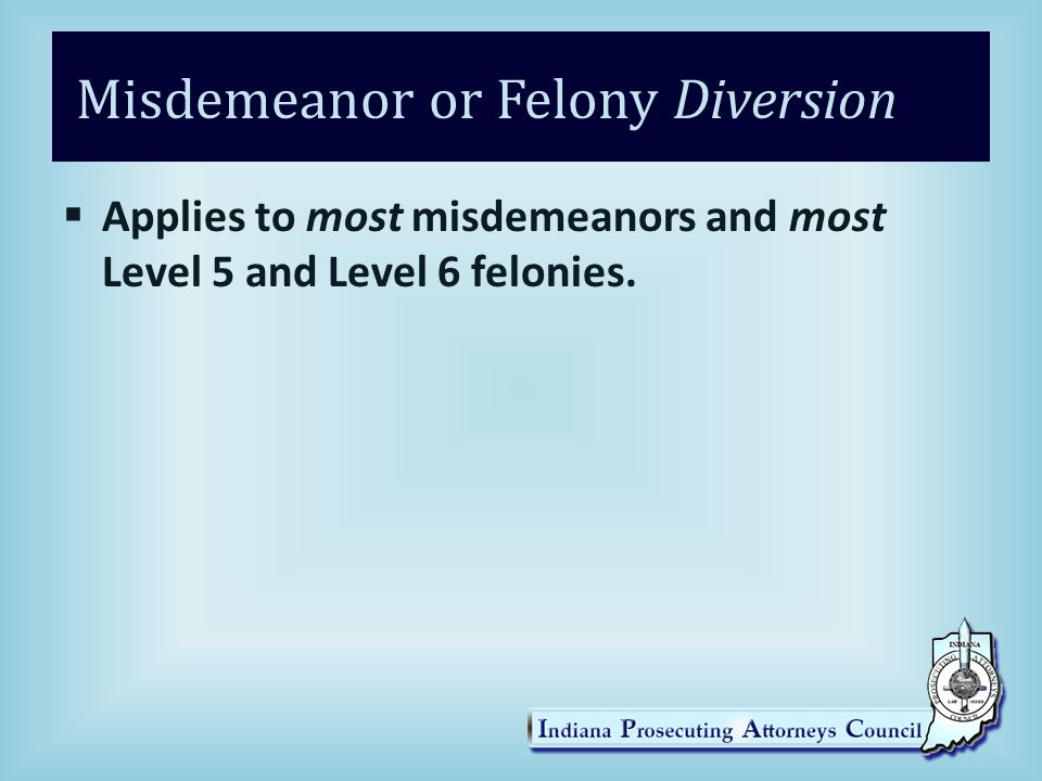 Misdemeanor or Felony Diversion
