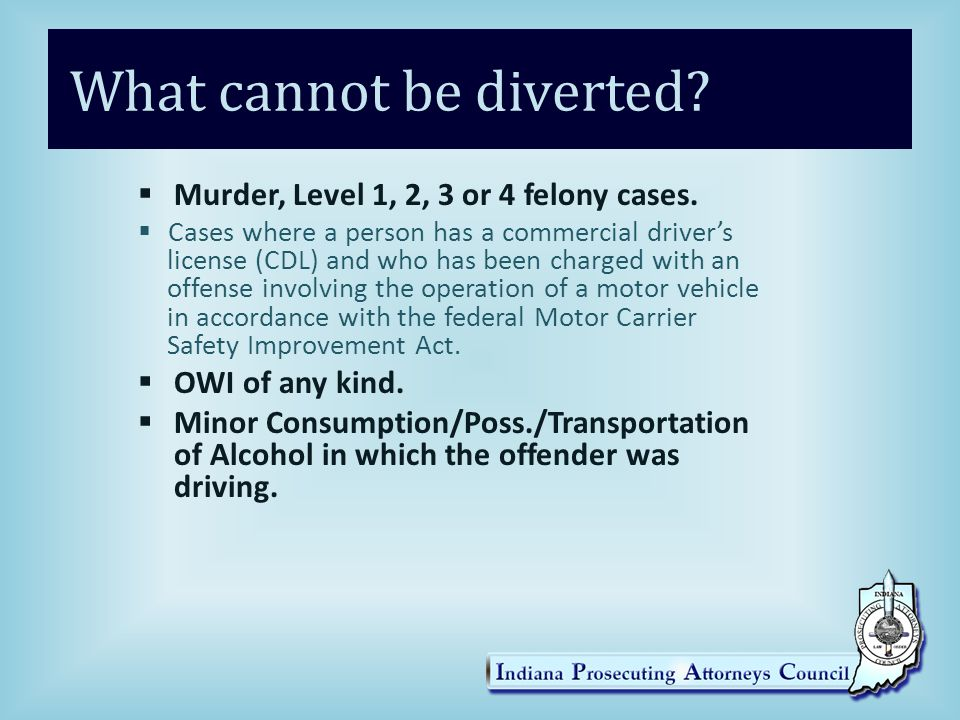 What cannot be diverted