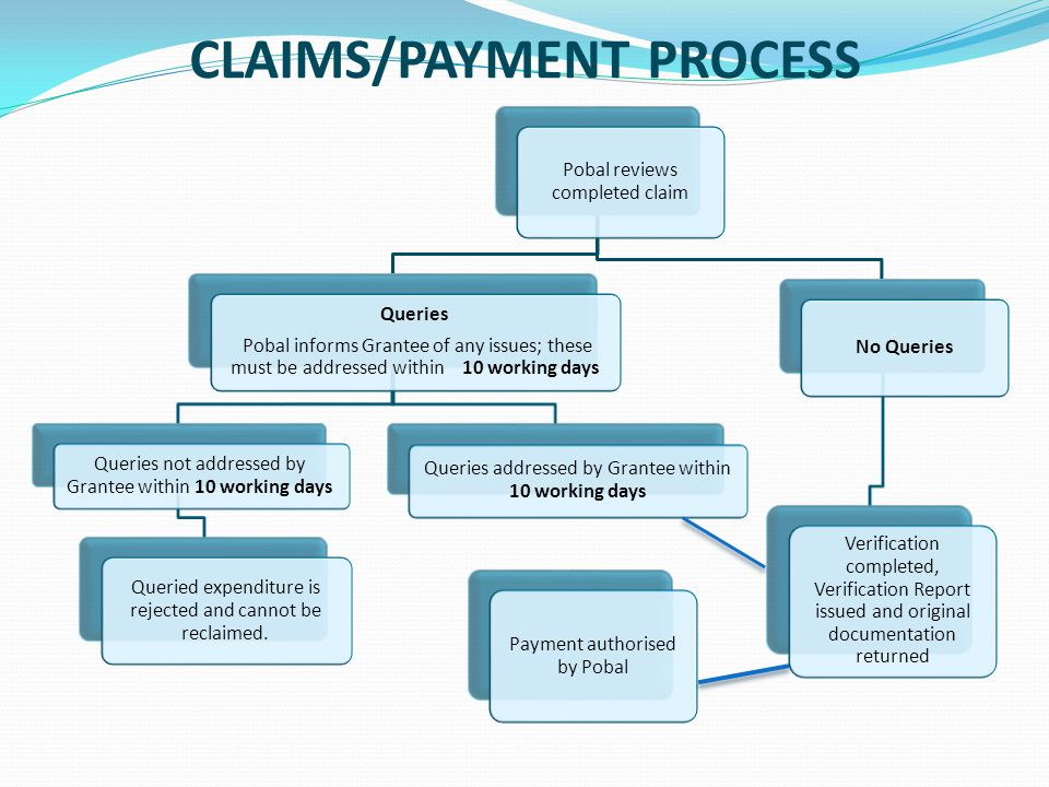 CLAIMS/PAYMENT PROCESS