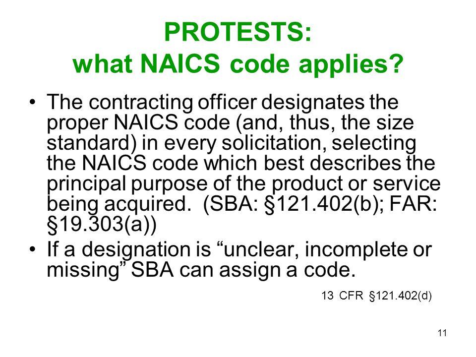 PROTESTS: what NAICS code applies