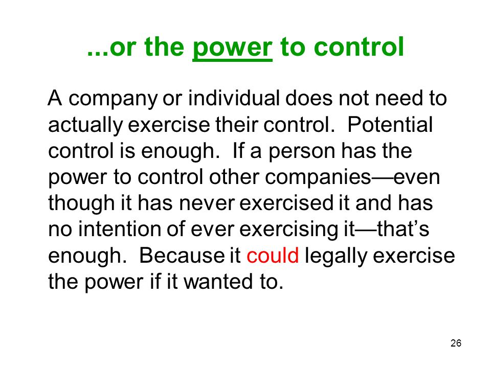 ...or the power to control