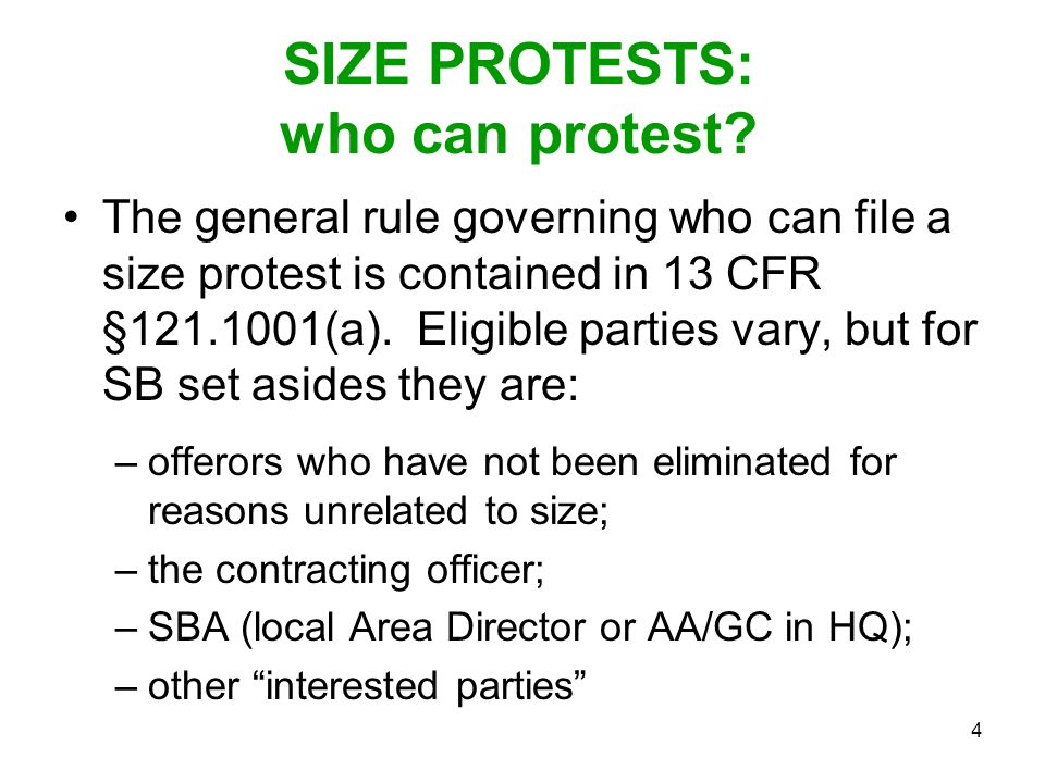 SIZE PROTESTS: who can protest