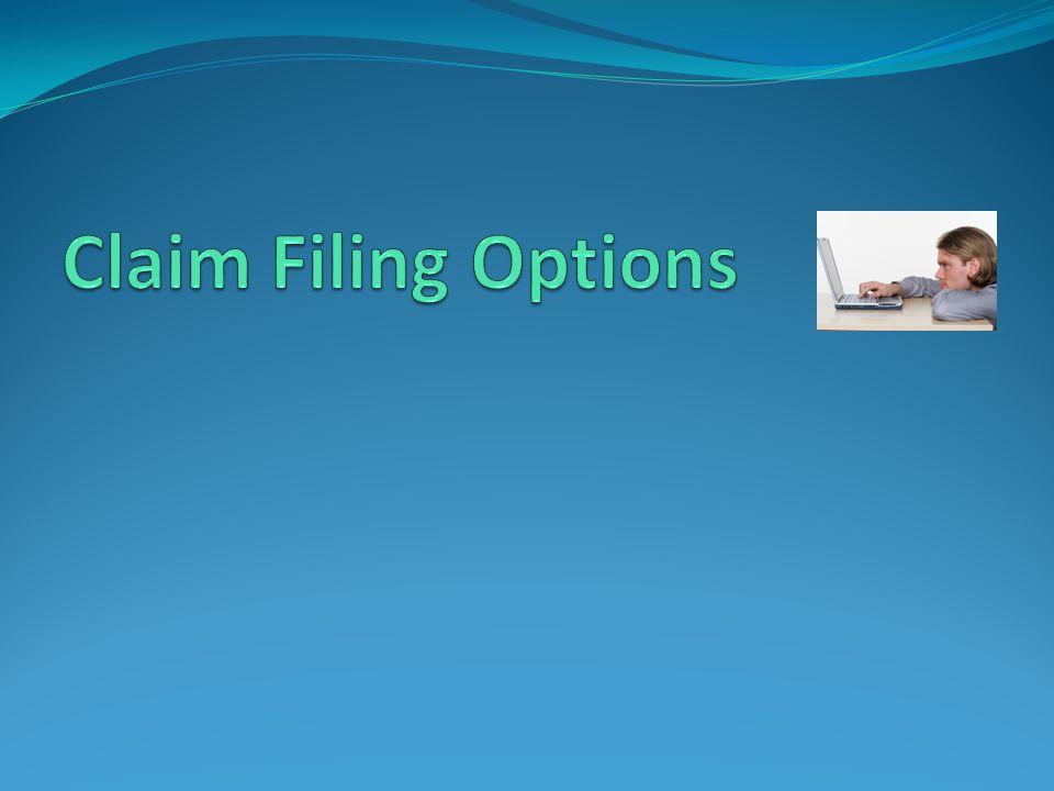 Claim Filing Options