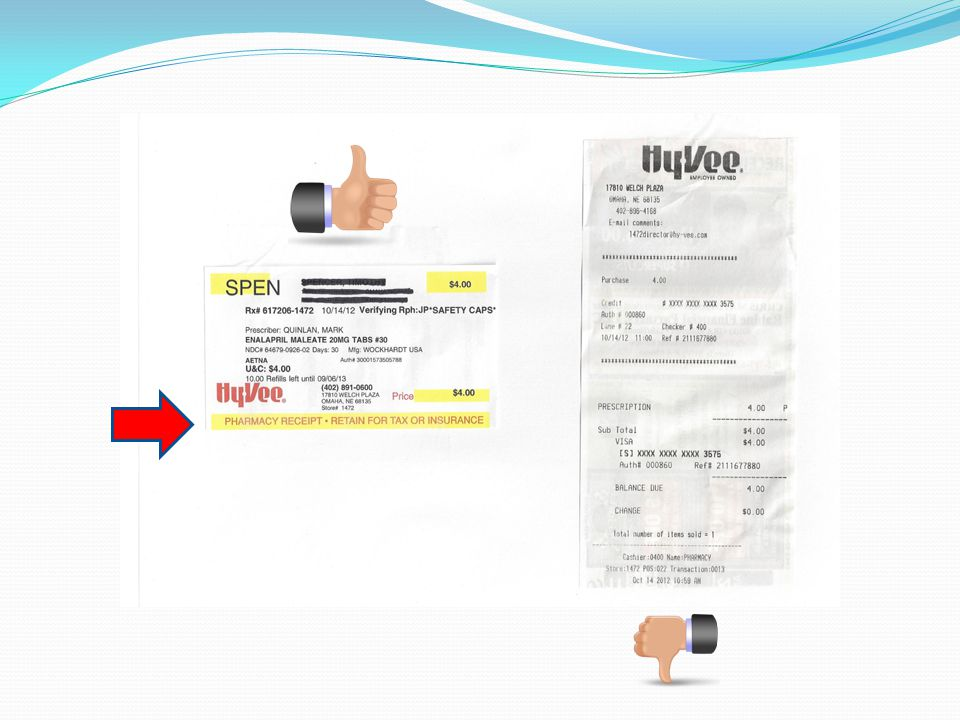 This is an example of a prescription receipt.