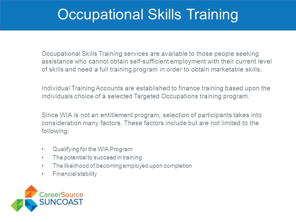 Occupational Skills Training