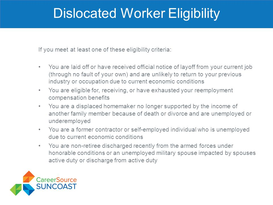 Dislocated Worker Eligibility