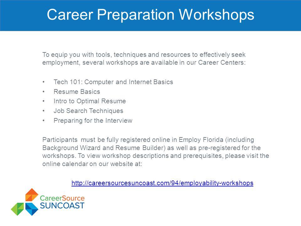 Career Preparation Workshops