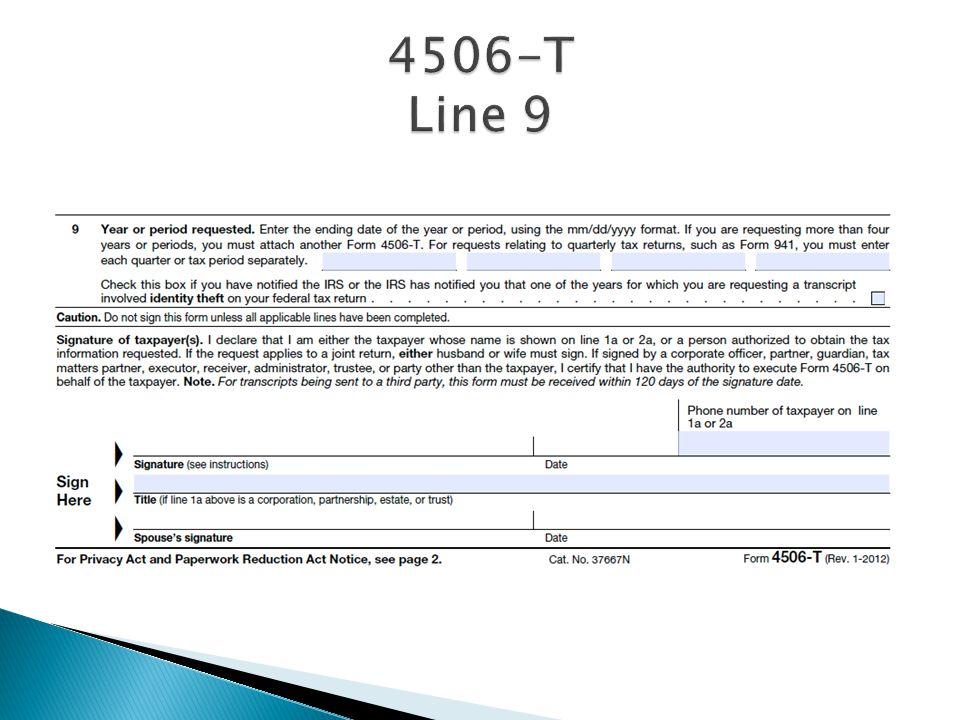 4506-T Line 9