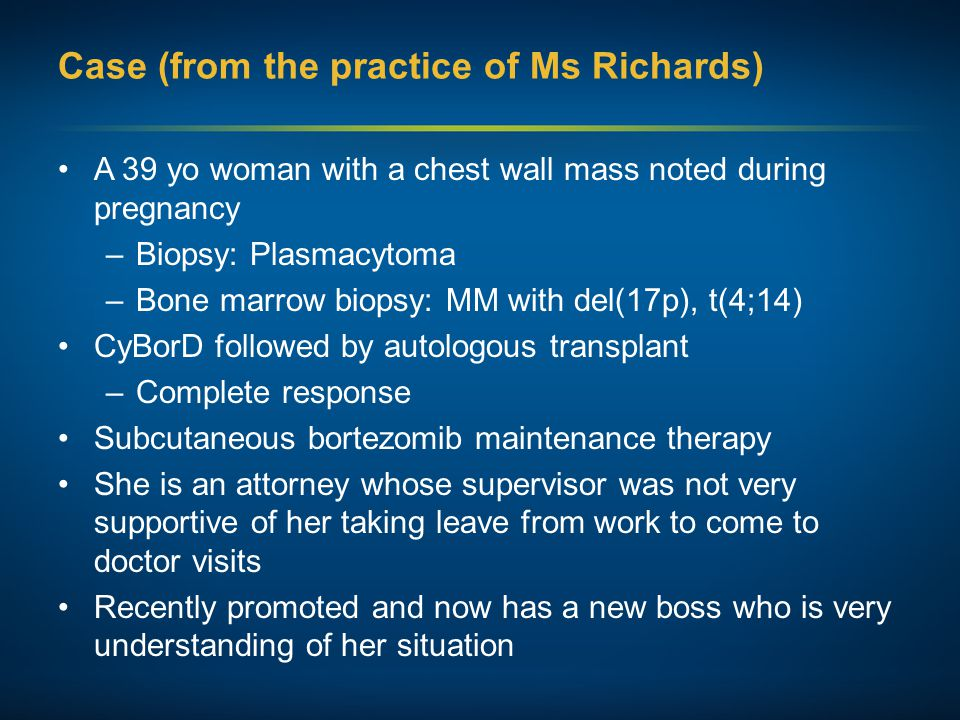 Case (from the practice of Ms Richards)