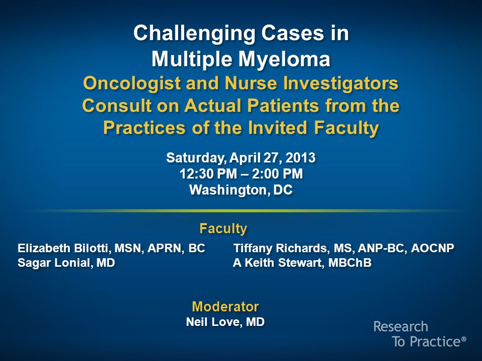 Challenging Cases in Multiple Myeloma