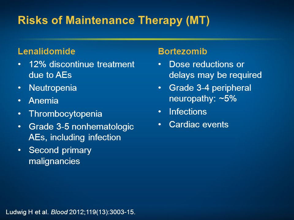 Risks of Maintenance Therapy (MT)