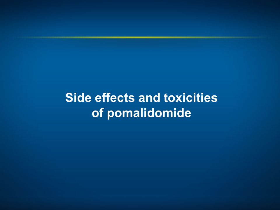 Side effects and toxicities of pomalidomide