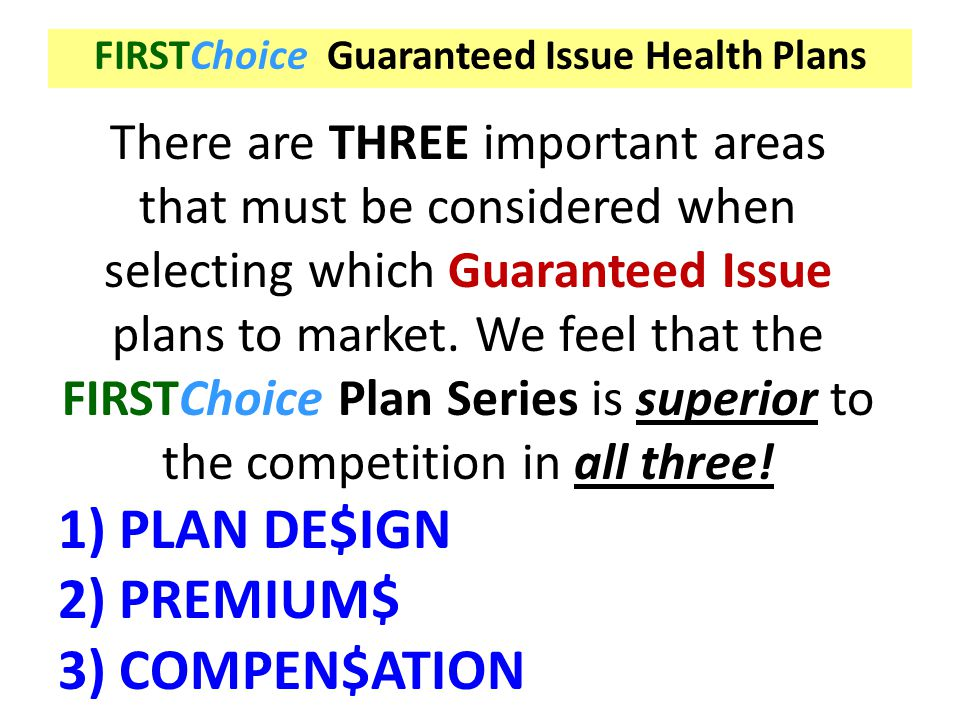 PLAN DE$IGN PREMIUM$ COMPEN$ATION There are THREE important areas