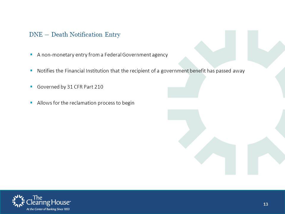 DNE ― Death Notification Entry
