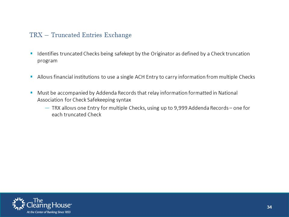 TRX ― Truncated Entries Exchange