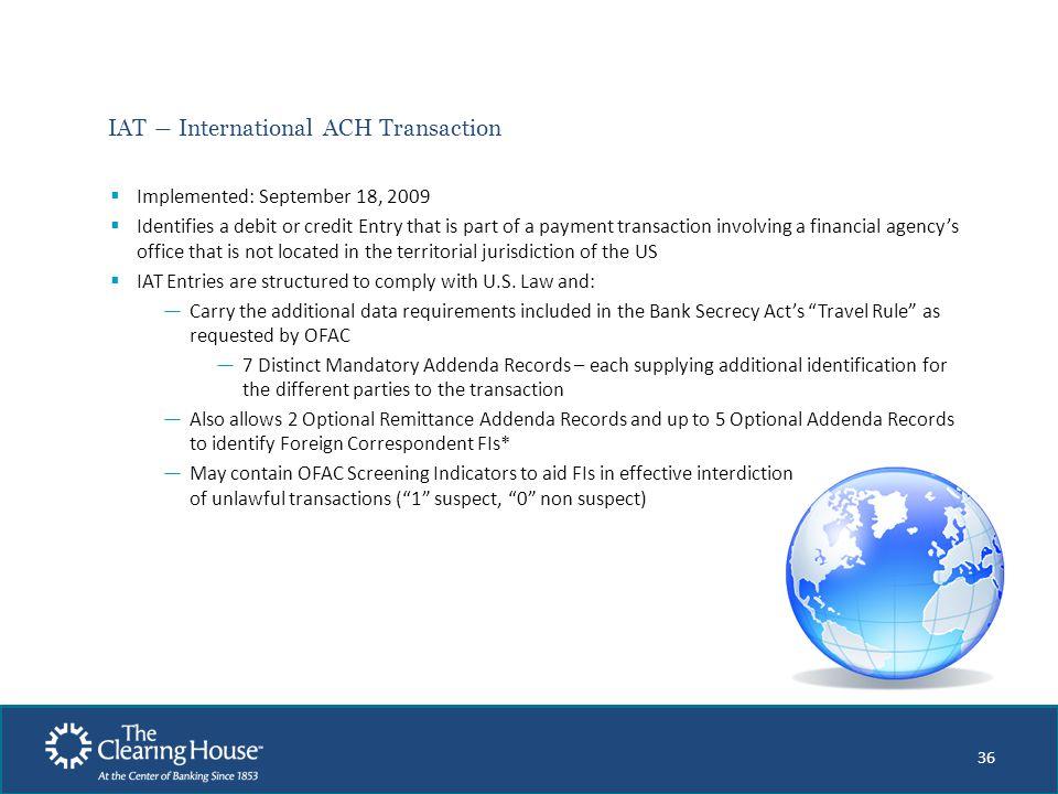 IAT ― International ACH Transaction