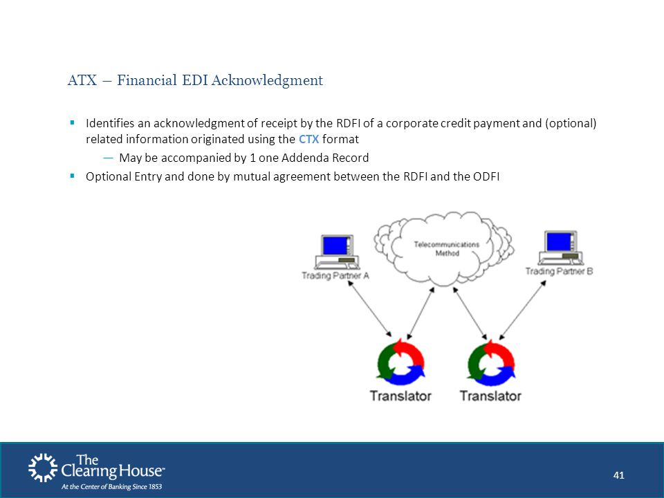 ATX ― Financial EDI Acknowledgment