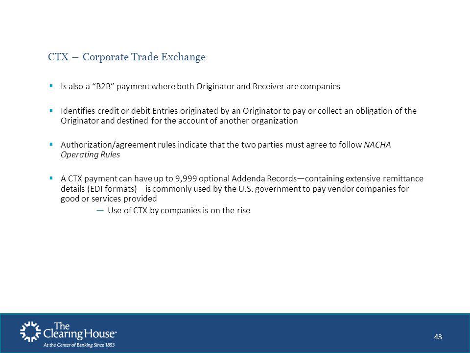 CTX ― Corporate Trade Exchange