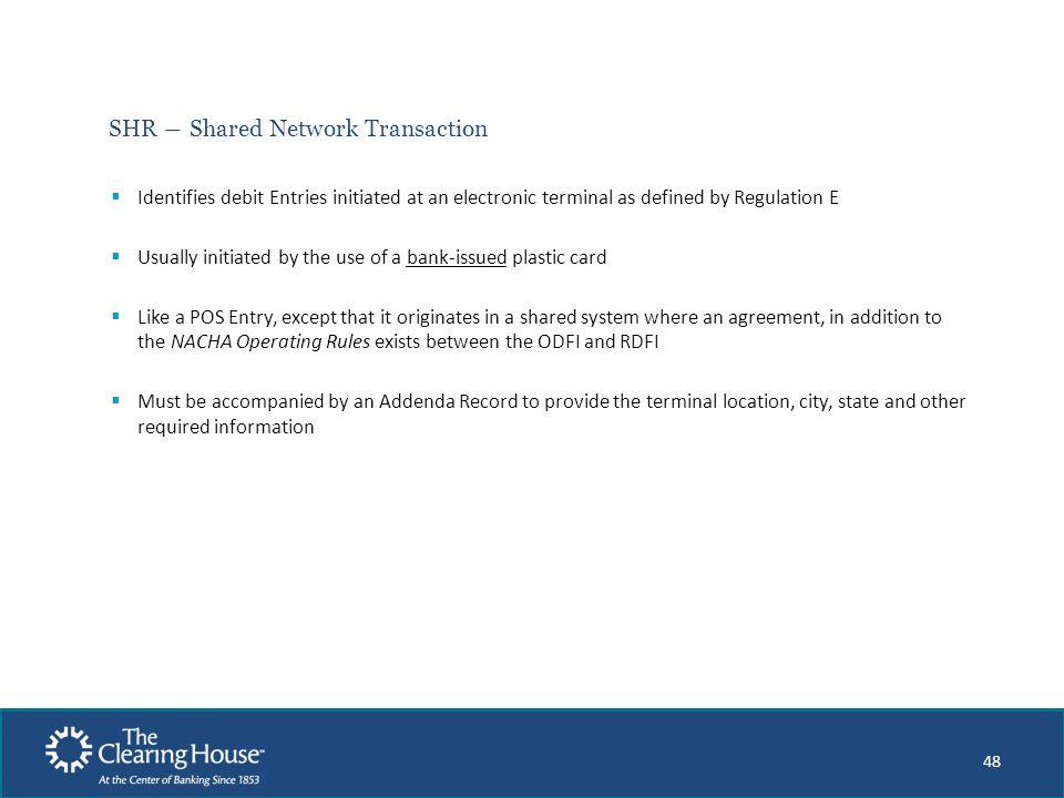 SHR ― Shared Network Transaction
