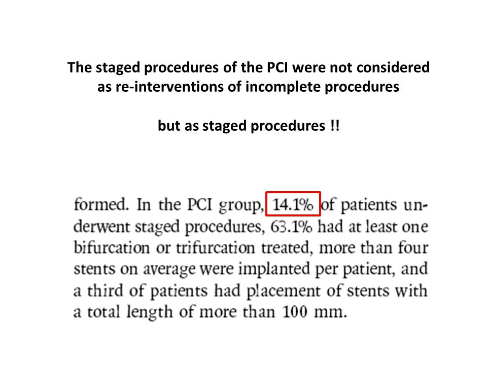 but as staged procedures !!