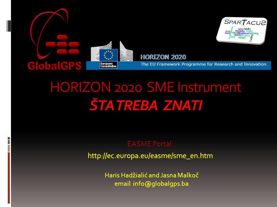 HORIZON 2020 SME Instrument ŠTA TREBA ZNATI