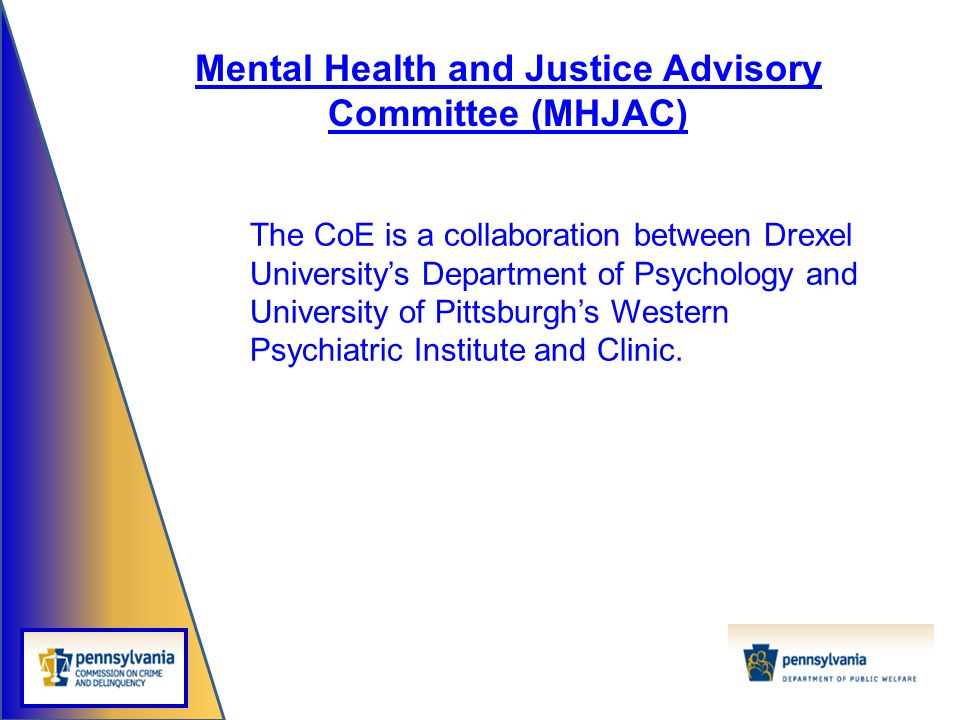Mental Health and Justice Advisory Committee (MHJAC)