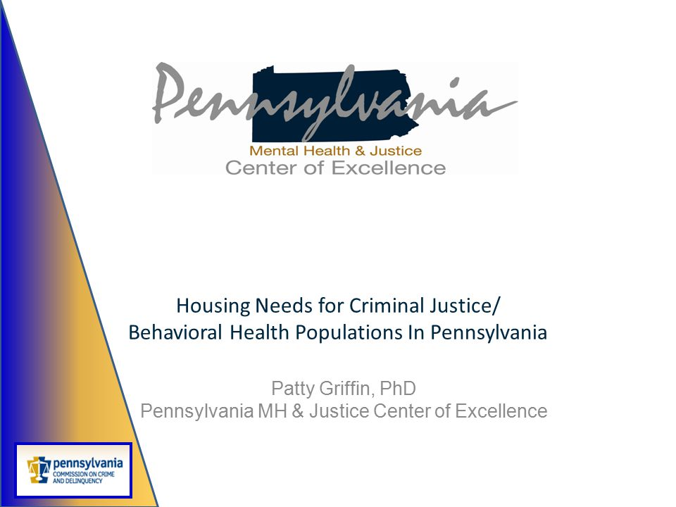 Patty Griffin, PhD Pennsylvania MH & Justice Center of Excellence