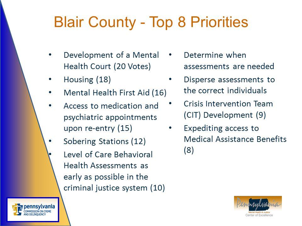 Blair County - Top 8 Priorities