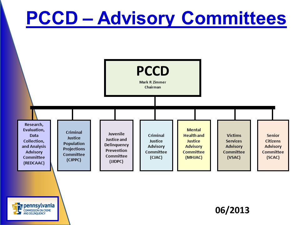 PCCD – Advisory Committees