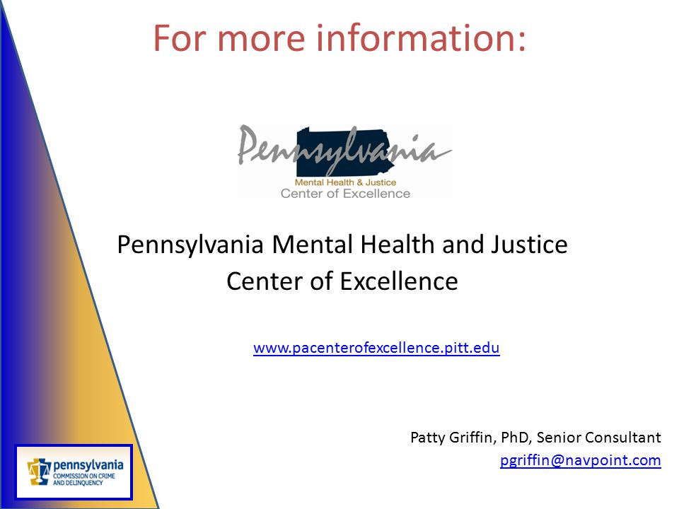 Pennsylvania Mental Health and Justice