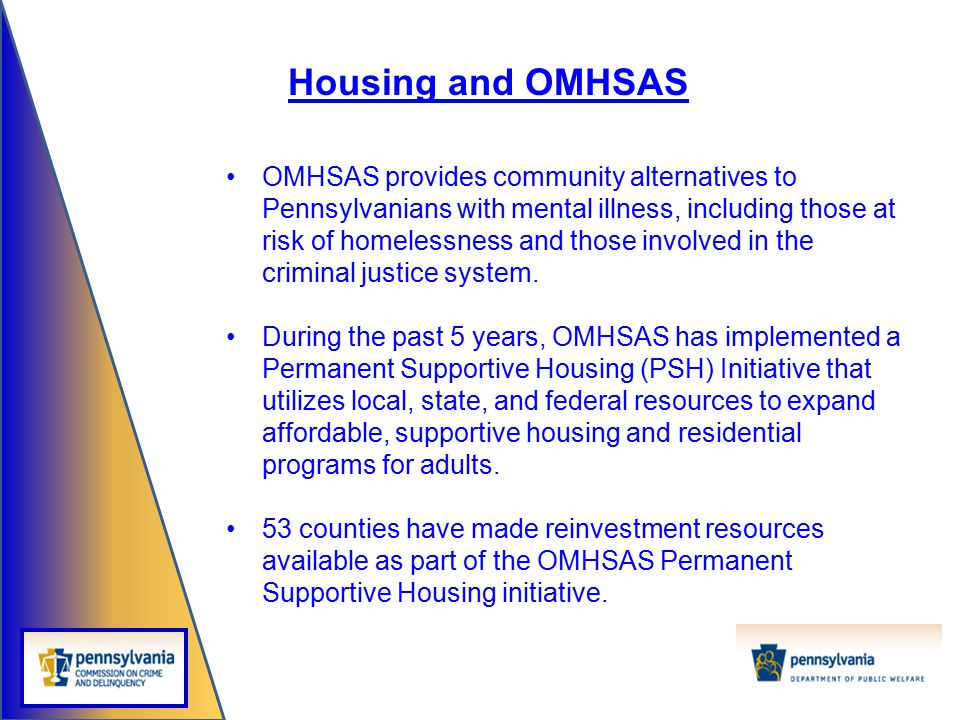 Housing and OMHSAS