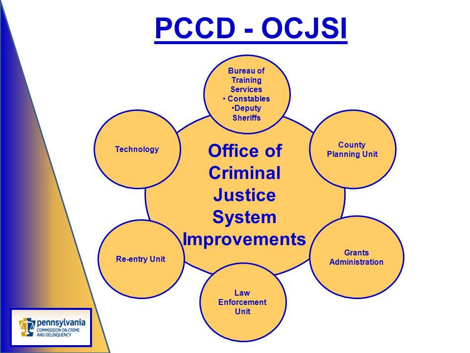 PCCD - OCJSI Office of Criminal Justice System Improvements
