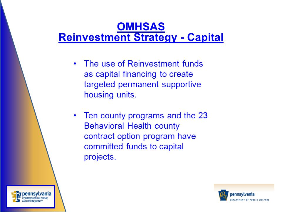 Reinvestment Strategy - Capital