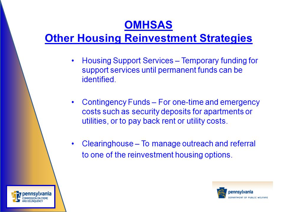 Other Housing Reinvestment Strategies