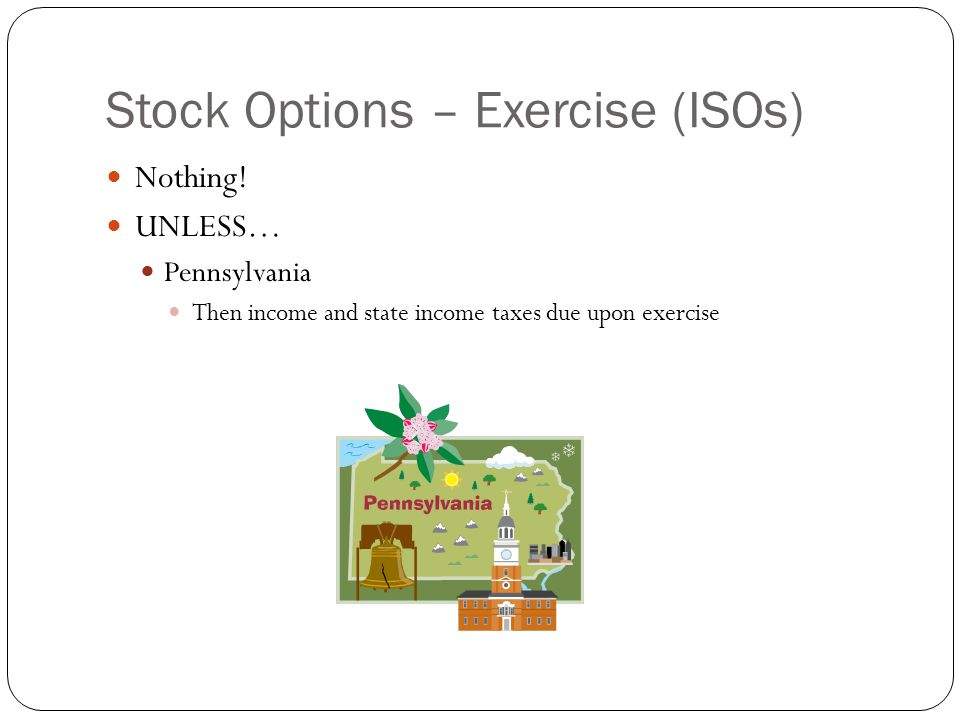 Pa taxation of stock options