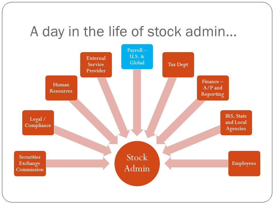 A day in the life of stock admin…