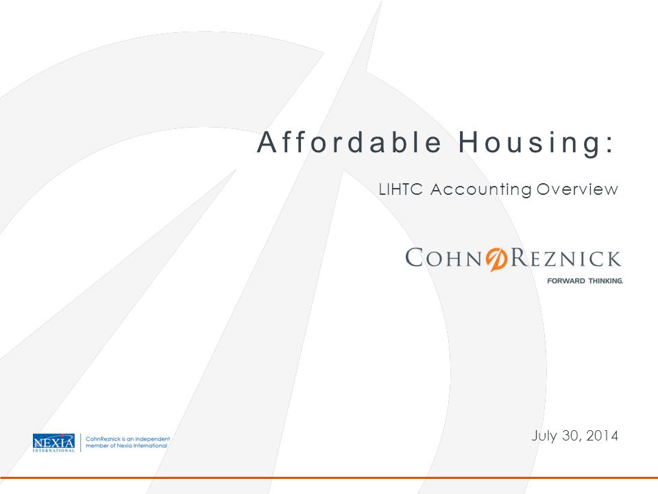 LIHTC Accounting Overview