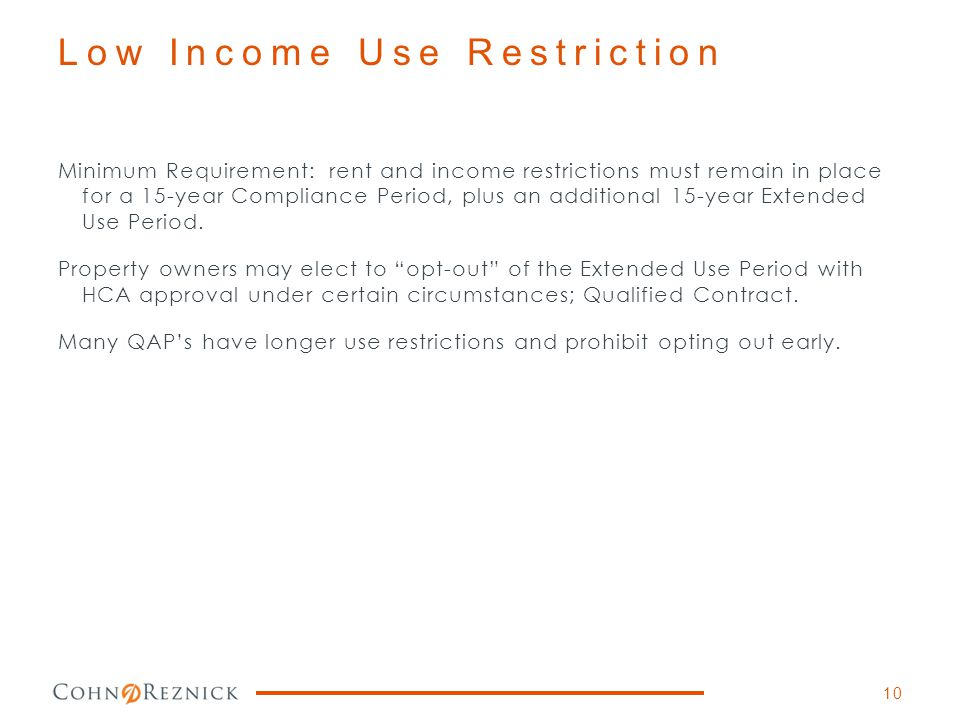Low Income Use Restriction