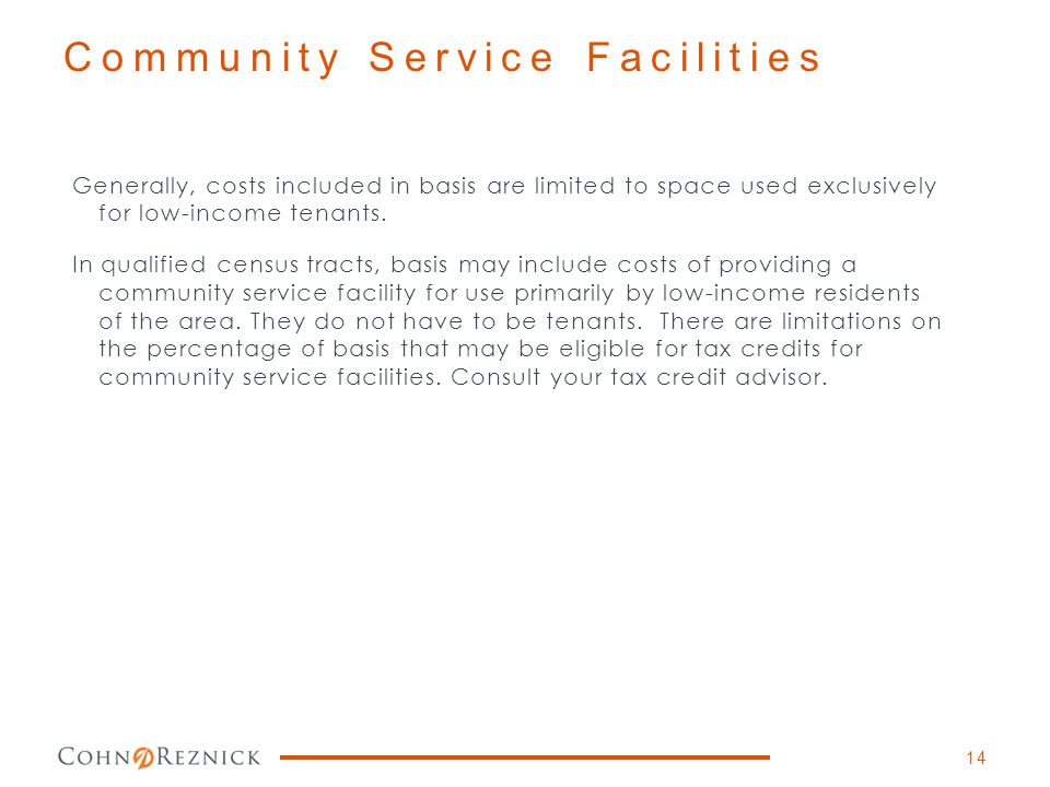 Community Service Facilities