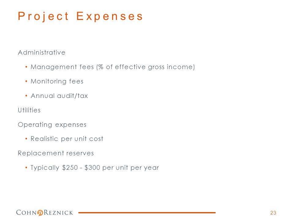 Project Expenses Administrative
