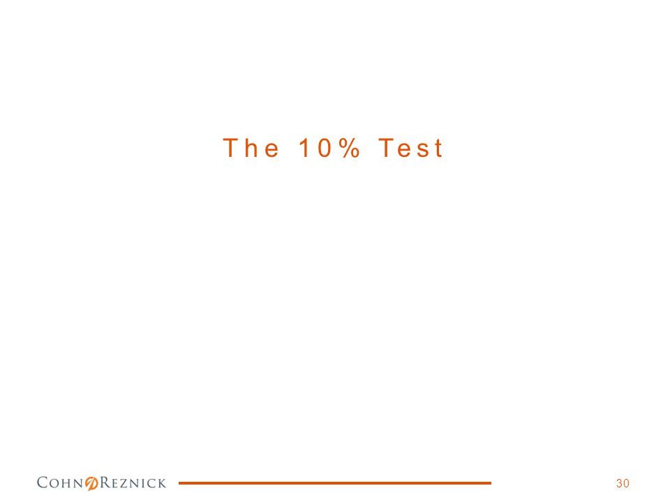 The 10% Test