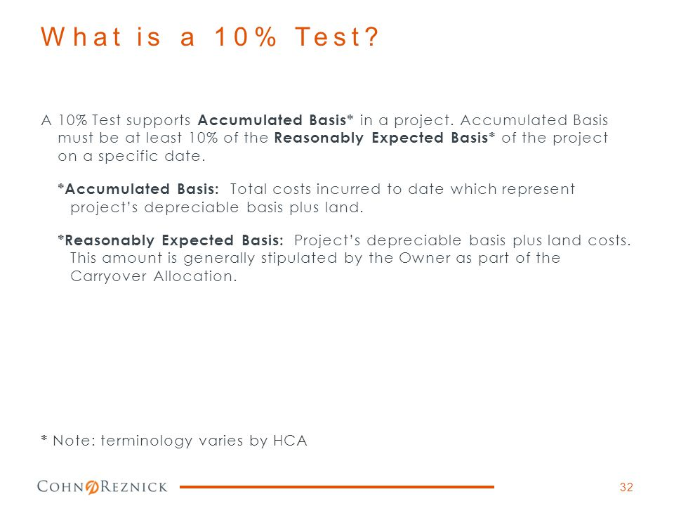 What is a 10% Test