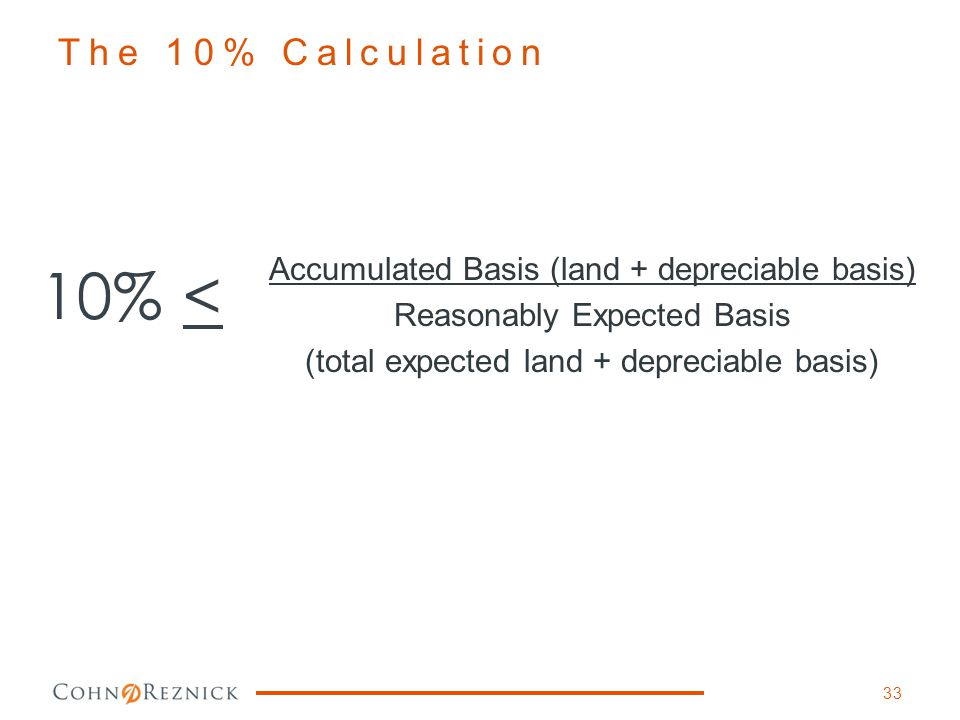 10% < The 10% Calculation