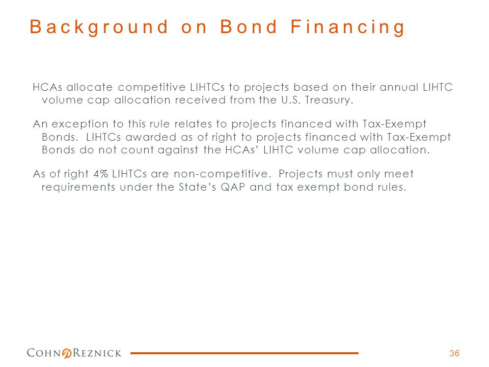 Background on Bond Financing