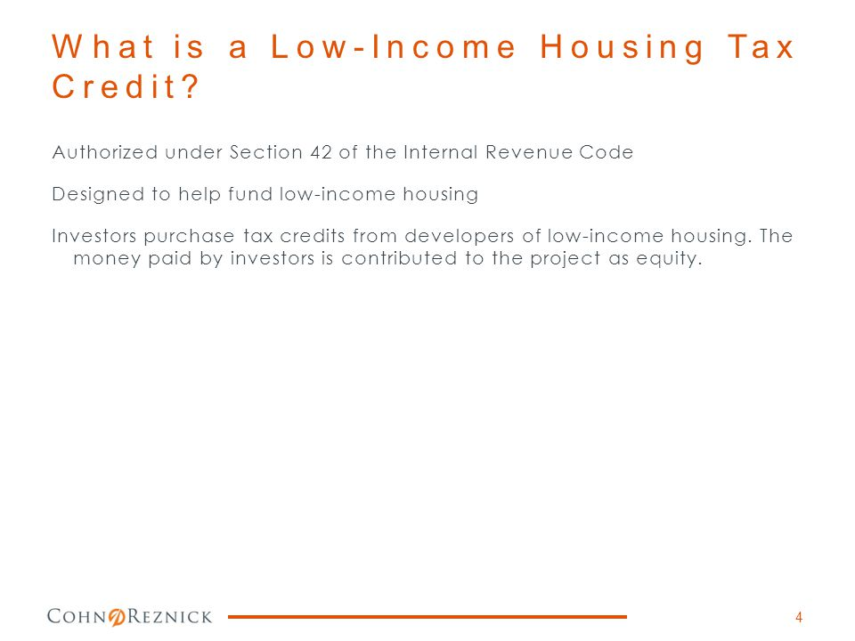 What is a Low-Income Housing Tax Credit