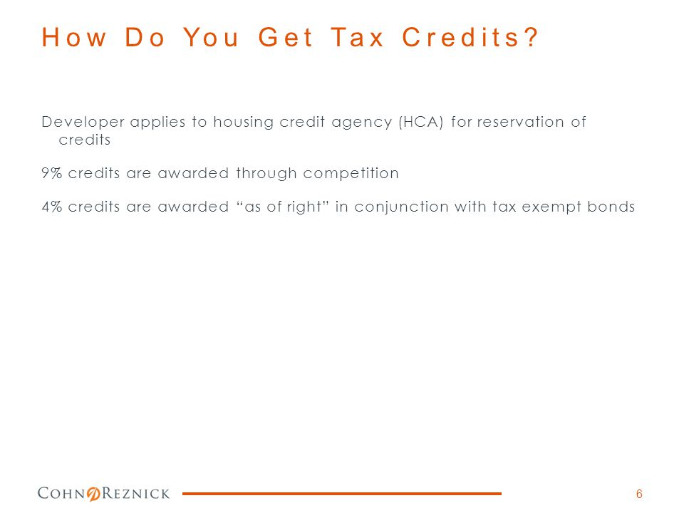 How Do You Get Tax Credits