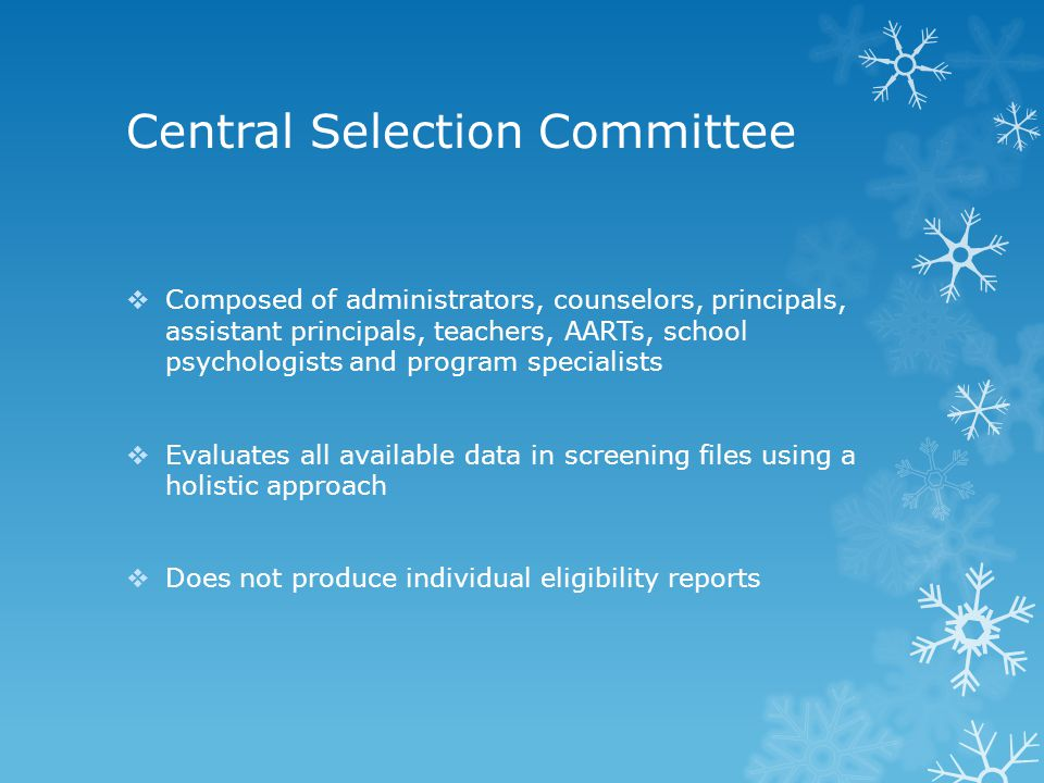 Central Selection Committee